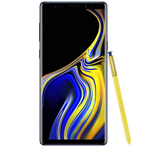 Samsung Galaxy Note9 Factory Unlocked Phone with 6.4in Screen and 128GB - Ocean Blue (Renewed)]()