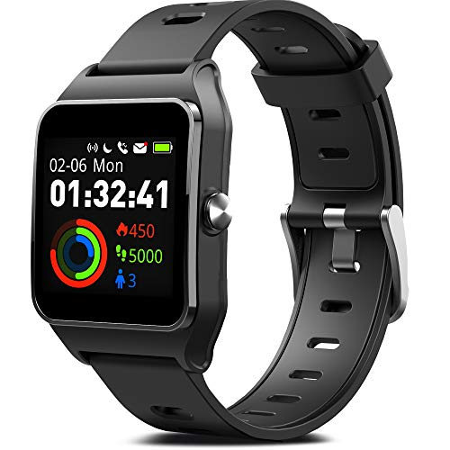 MorePro GPS Smart Watch with 17 Sports Mode Cycling Running Watches IP68 Swimming Waterproof Fitness Tracker, Heart Rate Monitor Smartwatch for Women Men Compatible with iPhone & Android (Best Gps For Running And Cycling)