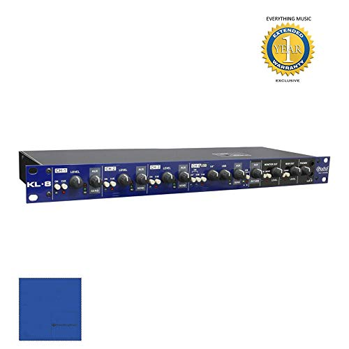 Rackmount Fiber 1 (Radial Engineering KL-8 Rackmount Keyboard Mixing Station with Microfiber and 1 Year Everything Music Extended Warranty)