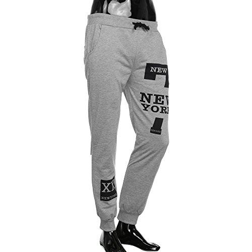 ANJUNIE Men's Basic Fleece Marled Jogger Pant Trousers Casual Sweatpants(Gray,M)