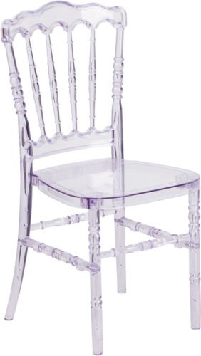 Exceptionnel Commercial Quality Crystal Clear Stacking Napoleon Chiavari Chair