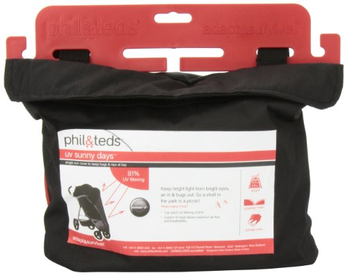 phil&teds UV Sunny Days Mesh Cover for Smart Single Stroller by phil&teds (Image #3)