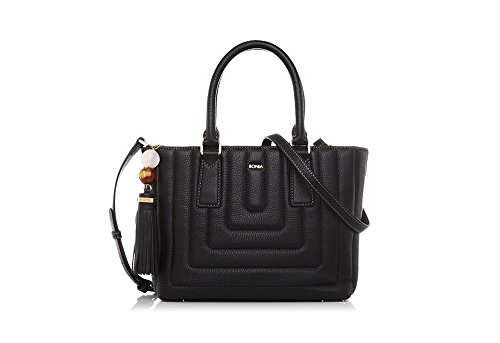 bonia-womans-black-maze-satchel-m