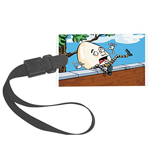 Royal Lion Large Luggage Tag Humpty Dumpty Sat On Wall