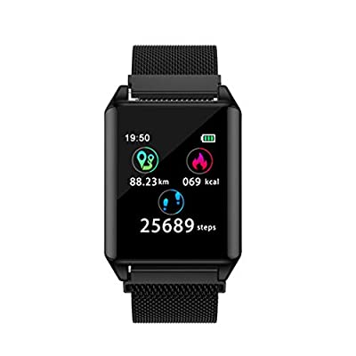 YYYda????Heart Rate Activity Step Counter Music Control Smart Watch Bracet for Kids Women Men Black by YYYda
