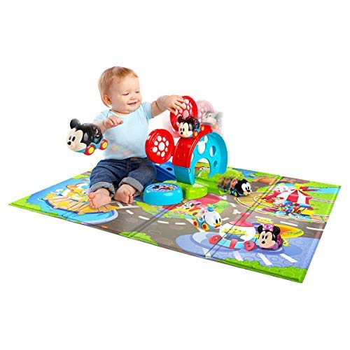 Mickey & Friends Go Grippers Cars Oball Design & Bounce Around Play Set & Colorful Foam Mat, Perfect for Your Little One's Playtime Adventure!, 2.1 lb