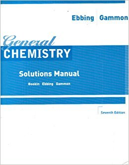 General Chemistry: Solutions Manual, 7th Edition