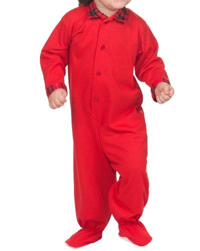 Tom and Jerry Baby Boys' Red Christmas Footed One-Piece Pajamas 24Months