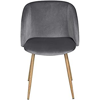 WarmCentre Mid Century Velvet Accent Armchair For Living RoomUpholstered Club Chair With Solid Steel Leg Modern FurnitureGray