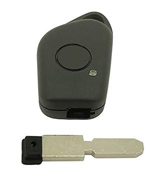 Cokitec - Carcasa para llave de coche, Citroën PSA, 1 botón, 406
