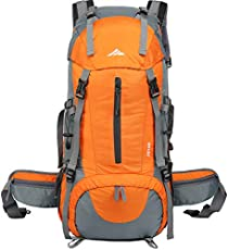 ed61052ac7f6 seenlast 50L Unisex Travel Hiking Backpack Outdoor Sport Daypack Water-Resistant  Bag with Rain Cover for Climbing…