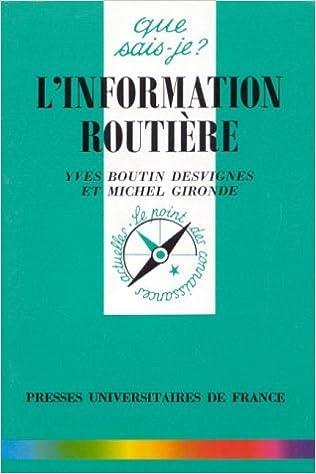 Livres L'information routière pdf, epub ebook