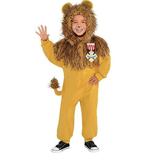 Suit Yourself Zipster Cowardly Lion One Piece Halloween Costume for Boys, The Wizard of Oz, Small -