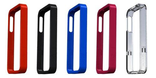 Gecko Étui bord Makrolon et antireflets pour iPhone 4–Bleu