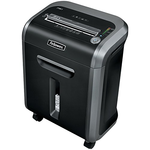 Fellowes Powershred 79Ci 100% Jam Proof Medium, Duty Cross, Cut Shredder, 16 Sheet Capacity, Black/Dark Silver (3227901) by Fellowes