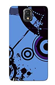 Galaxy Note 3 Case Slim [ultra Fit] Retro Circles And Paint Splashes Protective Case Cover(best Gift Choice For Friends)