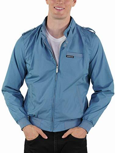 Members Only Men's Original Iconic Racer Jacket, Slate Blue, X-Large (Mens Jacket Light)