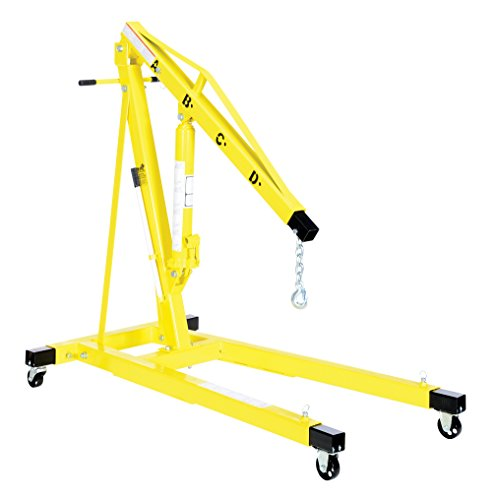 Vestil EHN-40-T Heavy Duty Steel Shop Crane Engine Hoist ...