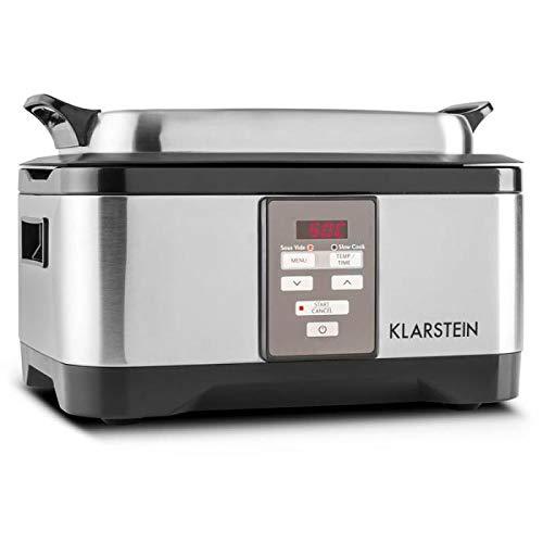 cuisson r/églable entre 1 et 24h argent Klarstein Tastemaker 550 watts cuiseur sous-Vide temp/ératures 40-90 /°C /écran LED basses temp/ératures cocotte acier inoxydable 6 litres