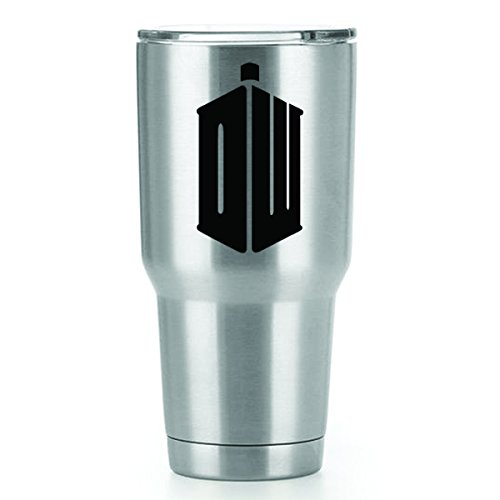 Doctor Who DW Vinyl Decals Stickers ( 2 Pack!!! ) | Yeti Tumbler Cup Ozark Trail RTIC Orca | Decals Only! Cup not Included! | 2 - 3 X 1.7 (Dr Who Adipose Costume)