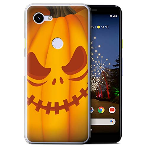 eSwish Gel TPU Phone Case/Cover for Google Pixel 3a / Scary Design/Halloween Pumpkin Collection]()