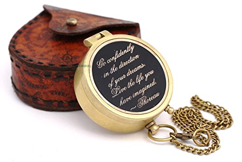 Roorkee Instruments India Engraved Compass Directional Magnetic Pocket Personalized Gift for Camping, Hiking and - Compass Pocket Metal