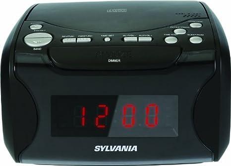 Amazon.com: Radio reloj despertador con reproductor de CD y ...