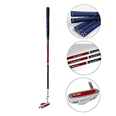 ①.Zinc alloy club head,100% graphite shaft  shaft, imported anti-slip rubber grip, shaft flex: Regular;       ②.3 sizes for free choose:       25 inch for age 3-5 (kids height 35.43-43.31 inch)       27 inch for age 6-8 (kids height 43.31-51....