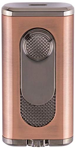 (Verano Flat Flame Cigar Lighter in an Attractive Gift Box Lifetime Warranty Vintage Bronze)