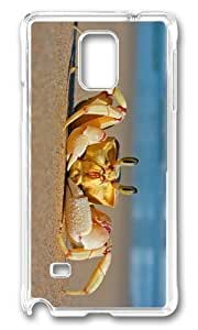 Adorable Crab on Beach Hard Case Protective Shell Cell Phone Ipod Touch 5 - PC Transparent