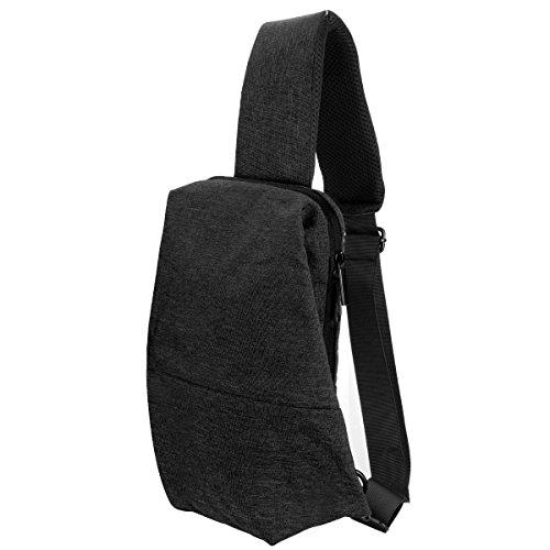 LC Prime Shoulder Bag Sling Bag Waterproof One-Shoulder Outdoor 2 Colors Oxford Black