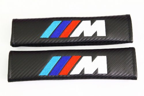 Spec-R ///M Carbon Fiber Seat Belt Cover Shoulder Pad Cushion - 1 pair