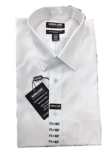 (Kirkland Signature Men's Traditional Fit Long Sleeve Shirt (17x32/33, White))