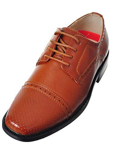 (Joseph Allen Boys' Dress Shoes - tan, 2 Youth)