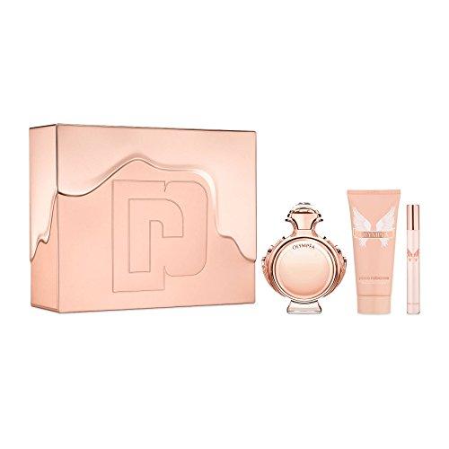 Paco Rabanne Paco Rabanne Olympea for Women 3piece Tin Box Set (2.7 Oz Eau De Parfum Spray/ 3.4 Oz Body Lotion/ 10 Ml Eau De Parfum Spray), 6.2 Oz ()