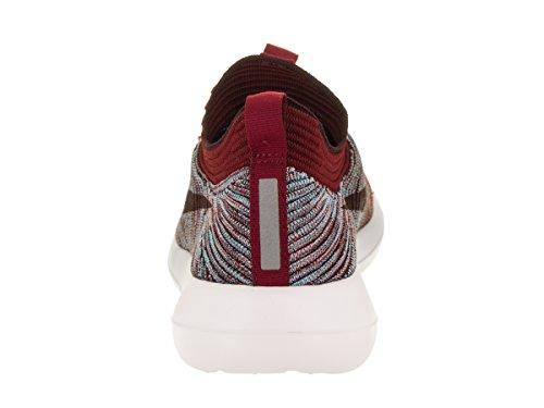 Nike Mens Roshe Two Flyknit V2 Running Shoe Team Red / Plum Fog Gunsmoke
