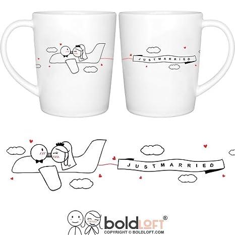 Amazon.com | BOLDLOFT Just Married His & Hers Wedding Couple ...
