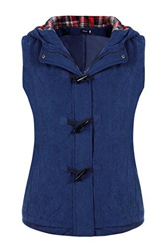 Finejo Women Autumn Winter Fashion Stylish Hooded Gilet Jacket Quilted Vest