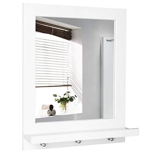 Homfa Bathroom Wall Mirror Vanity Mirror Makeup Mirror Framed Mirror with Shelf -