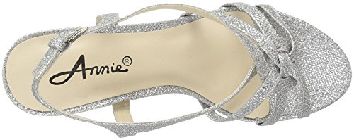 Sandal Shoes Lil Women Dress Silver Annie xYUAOqq