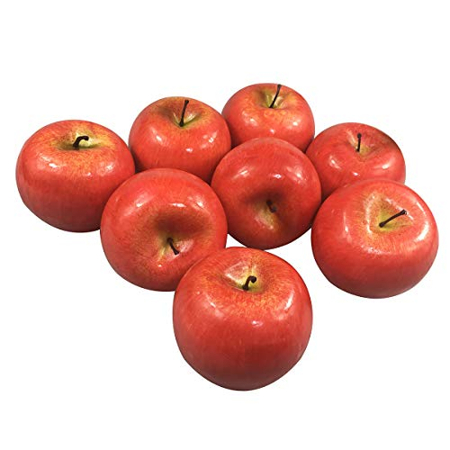 SOSAM 12pcs Fake Fruit House Kitchen Party Decoration Children Toys Artificial Lifelike Simulation Red Apples (12pcs Red Apples)