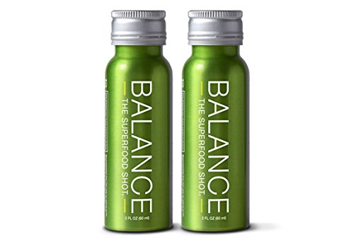 Superfood Shot, Organic Blend of Fruits, Vegetables and Greens, Smoothie, Green Drink to Take on the Go, Juice Cleanse, 2oz. Serving, Vegan, Gluten-Free (2 pack)