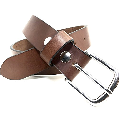 Our Classic Handmade Brown Leather Belt Distressed 1.25 and 1.50 Inch Width American Leather Belt Co. - Fossil Casual Belt
