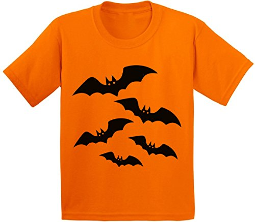 Soccer Themed Halloween Costumes (Awkward Styles Halloween Bats Youth T shirts Kids Tees Halloween Bats Costume Idea Orange M)