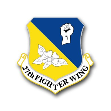 (US Air Force 27th Fighter Wing Vinyl Transfer Decal Military Veteran Served Window Bumper Sticker Vinyl Decal 3.8