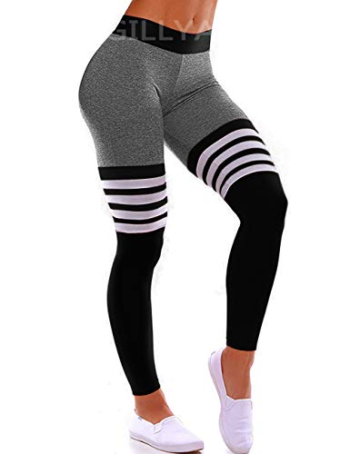 GILLYA High Waist Gym Seamless Leggings Workout Tights for Women Butt Lift Tummy Control Leggings Seamless Yoga Pants 1