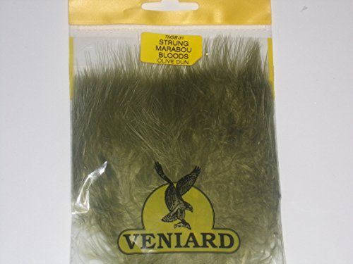 - Veniard Turkey Marabou Blood Quills Strung (Olive Dun)