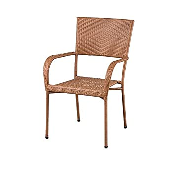 Amazon.com: Fiesta Stacking Patio Chair (Honey): Garden & Outdoor