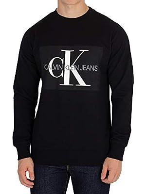 Calvin Klein Jeans Men's Core Monogram Sweatshirt, Black