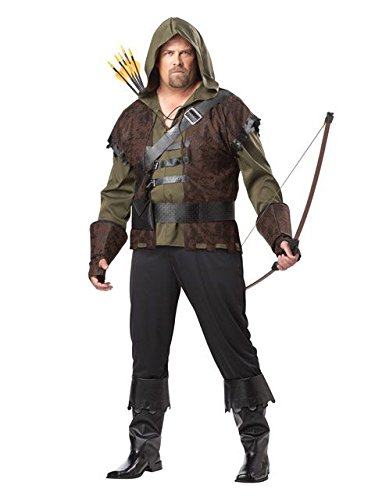 California Costumes Plus-Size Robin Hood Shirt With Vest, Olive/Brown, One Size Costume for $<!--$32.59-->
